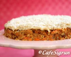 Albert's wonderful raw carrot cake
